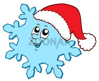 Christmas snowflake - isolated illustration.