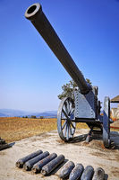 Kanonen namens Long Tom auf dem Long Tom Pass, Südafrika, cannons at Long Tom Pass, South Africa