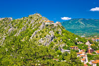Old town Knin on the rock view