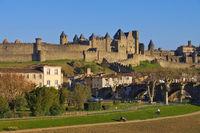 Carcassonne Pont Vieux  - Castle of Carcassonne Pont Vieux, France