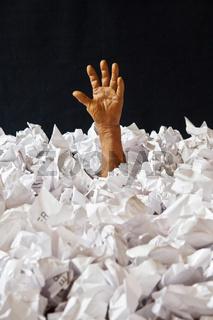 hand, papier