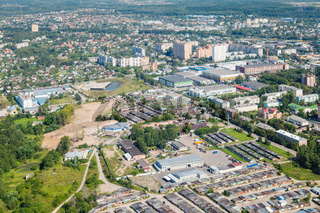 above view of Dedovsk town in Moscow Region