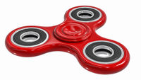 red fidget finger spinner stress, anxiety relief toy