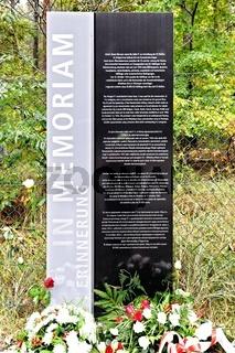 Peenemünde Parkplatz Kienheide Denkmal für NS-Opfer