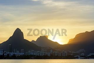 Dusk in Rio de Janeiro