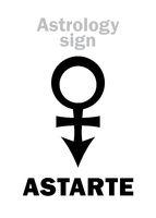 Astrology: the star ASTARTE (Venus)
