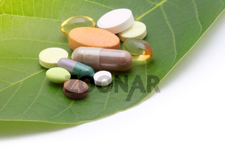 vitamins pills and tablets