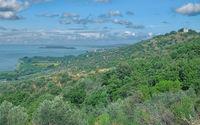 der Trasimenische See in Umbrien,Italien
