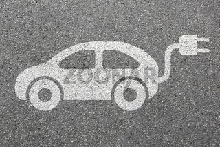 Elektro Auto Elektroauto Fahrzeug Straße Verkehr Mobilität Umwelt umweltfreundlich