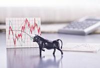 Bulle und Entwicklung von Börsenkursen