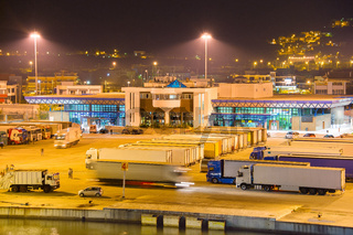 Truck in the sea port