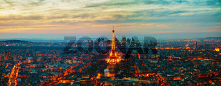 Cityscape of Paris with the Eiffel tower