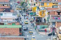 98th street district Castilla Medellin aerial view