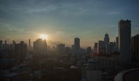 Sunset in Bangkok city, Thailand