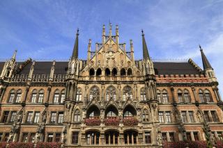 New Town Hall (Rathaus) in Marienplatz
