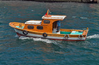 private motor boat on the Bosphorus strait, Sea