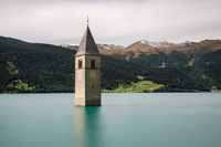 Submerged church at Lake Reschen