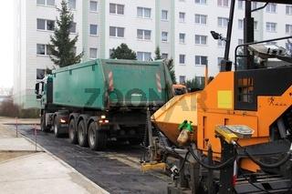 Strassenbau. road building