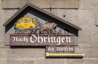 Inoffizielles Ortsschild in Mainhardt