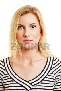 Biometrisches Passfoto einer jungen Frau