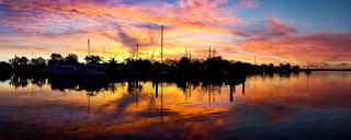 Sunrise silhouette photo.