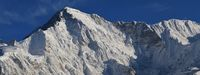 Snow covered peak of mount Cho Oyu, Nepal. View from Gokyo, Mount Everest National Park, Nepal.