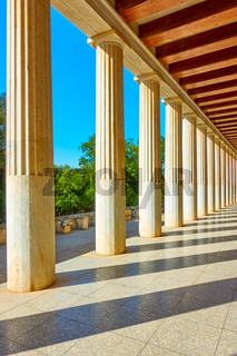 Perspective of colonnade
