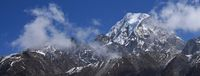 High mountain Tenzing peak, also named Ngozumpa Kang seen from the Gokyo valley, Nepal.