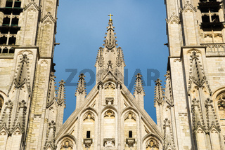 Cathedral of St. Michael and St. Gudula - Catholic church in Brussels, Belgium.
