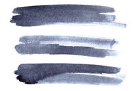 Set of grey ink brush strokes