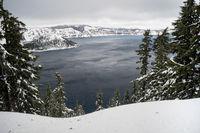 North Rim Winter Storm Wizard Island Mount Scott
