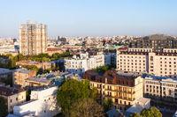 residential buildings in Kiev in spring dawning