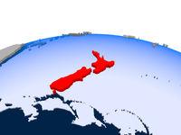 Papua New Guinea on political globe