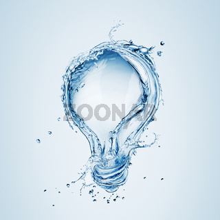 Light bulb from water splash