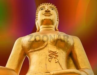 Regenbogen Goldener Buddha