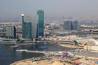 Dubai Festival City Mall Luftaufnahme Luftbild