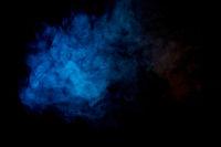 cloud of blue smoke