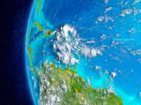 Caribbean on Earth from space