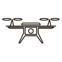 Photo and Video Air Drone Icon