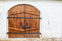 wooden gates closed on the bolt
