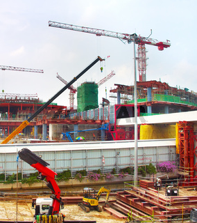 Airport construction site, Singapore