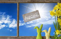 Window, Blue Sky, Auszeit Means Downtime