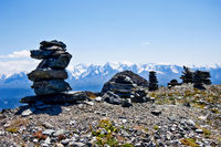 Stone piles on the mountain top
