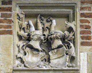 Wappen der Familie Droste zu Vischering, Burg Vischering, Lüdinghausen, Münsterland, NRW