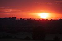 Sunset Hilly Landscape