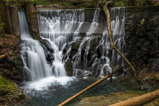 Waterfall at the Vintgar gorge, Slovenia