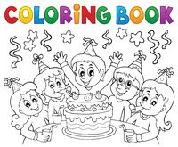 Coloring book kids party topic 1