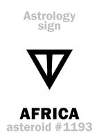 Astrology: asteroid AFRICA