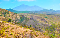 Landscape of highland in Tenerife