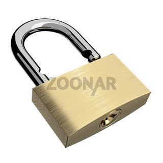 Open lock isolated
